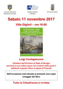 Presentazione ITINERARI 1866 a Ficarolo 1