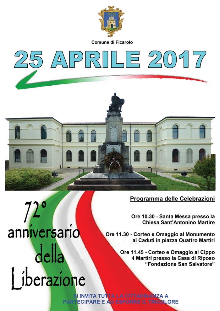 Locandina 25 aprile 2017 a Ficarolo
