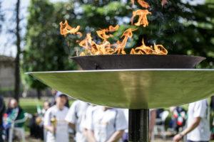 La Fiamma Olimpica a Ficarolo