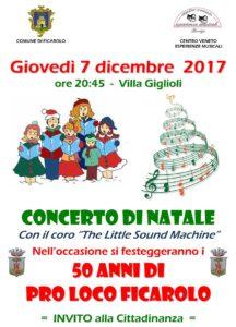 Concerto di Natale e 50 anni di Pro Loco Ficarolo 1