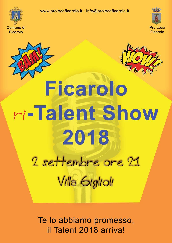 Ficarolo ri-Talent Show 2018 - Locandina