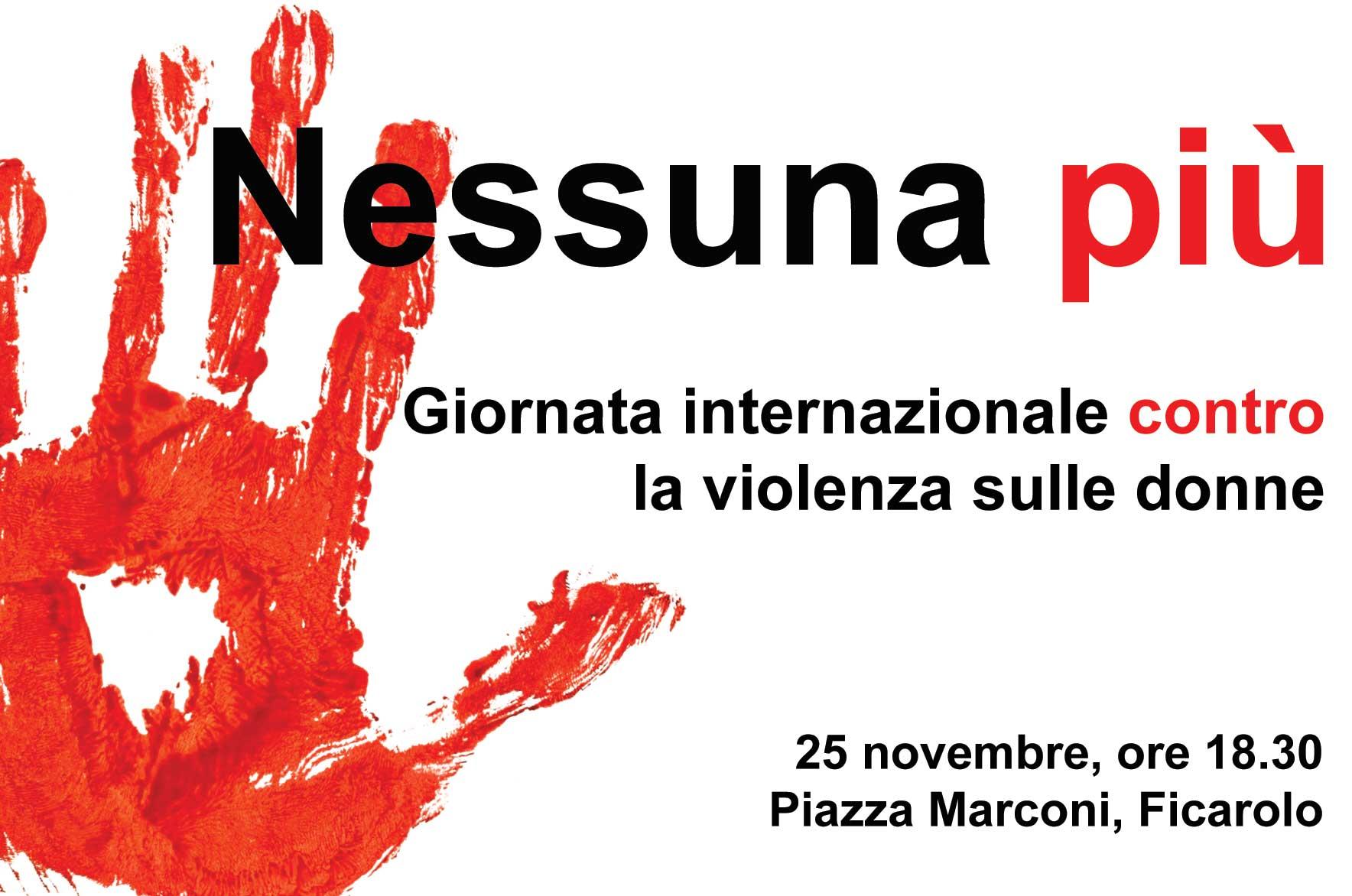 """""""Nessuna più"""", Ficarolo contro la violenza sulle Donne"""