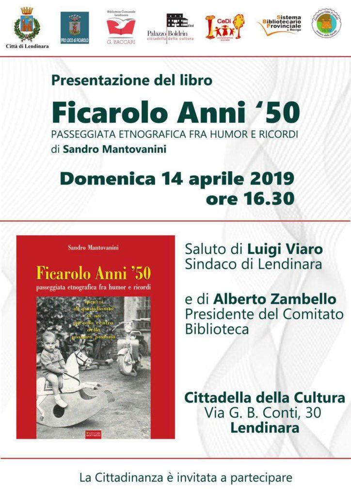 """Presentazione """"Ficarolo Anni 50"""" a Lendinara"""