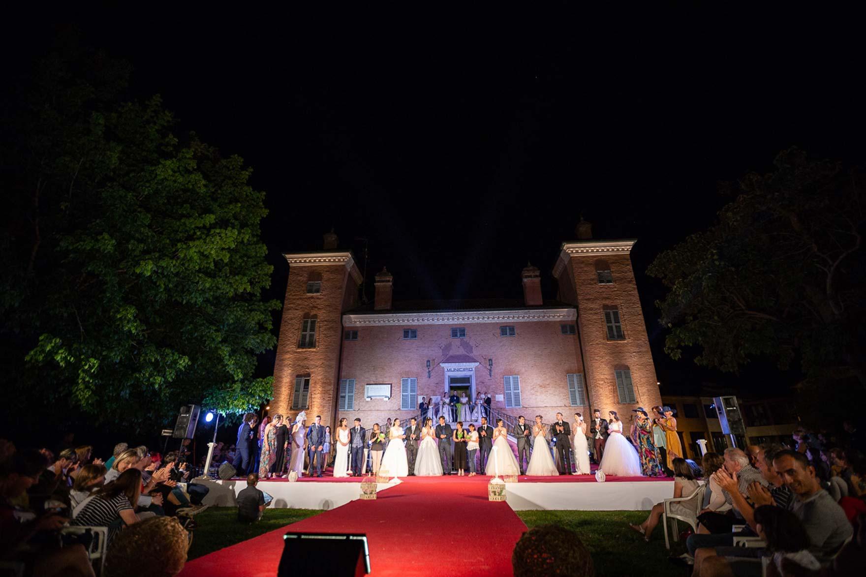 La moda Sposa Ficarolo 2019, sfilata in Villa Giglioli
