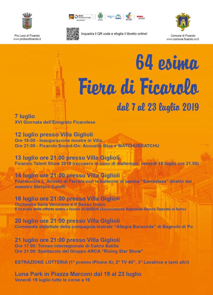 Fiera di Ficarolo 2019, dal 7 al 23 luglio