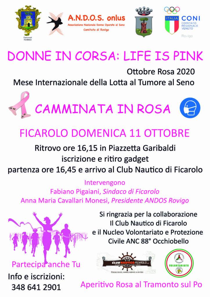 Ottobre Rosa 2020: camminata in rosa